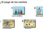 El juego de los cuentos: Blancanieves y los siete enanitos y Los tres cerditos.