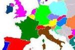 Mapa. Países de Europa.